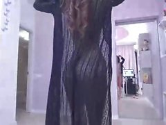 Teasing striptease dance