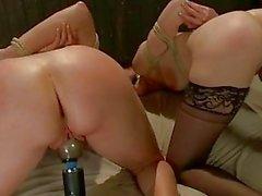 Saucy Babes Bend Over For An Ass...