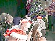 8 perv old men gangbang siliconed Santa lady
