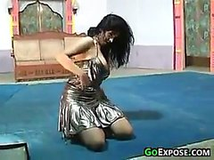 Boobs Exposed During A Dance