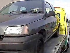 Frankrikes Mogna påsatt av Truckförare