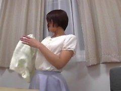 Japanisch Mädchen Humping Orgasmus