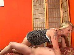 Nasty girl punishes a horny guy