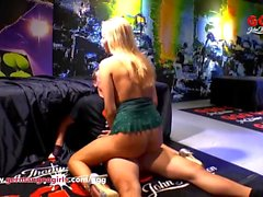 Beautiful Blonde babe is a real cum lover - German Goo Girls