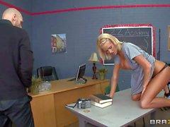 Buxom Student girl Jessica Nyx takes teacher s boner