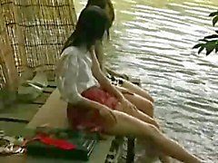 Asian lesbo by the lake