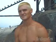 BodyShoppeFilms - Roscoe - Straight Blonde Surfer Waxes His Stick for Cash