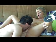 Blond MILF pussy hunting for young blood