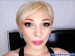 Blonde Blowjob Teen Swallows Semen