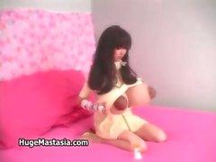 Asiatique mince femme brune garce cant get