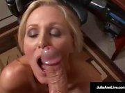 Ofis Milf Julia Ann Sucks Cock & Sıcak Yapışkanlı Yüz Getiriyor!