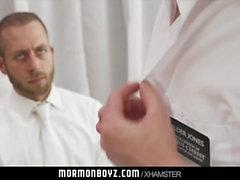 MormonBoyz-Older priest masturbates nervous young Mormonboy