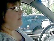Dicke Frauen Job # 9 Wählen Sie im Auto, Verheiratete hinterhältigen Ältere Ehegattin