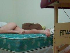 Hd-watch meine Füße, während ich mein Bett-Full-Video-Buckel