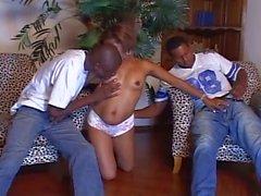 Negro puto threesome bisexual Lo penetración anal y su coño