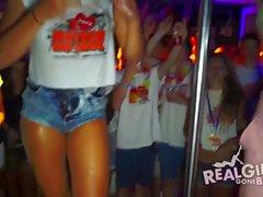 Teens party in panties