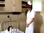 Riho nasty Asian nurse gets anal fuck with a strap-on