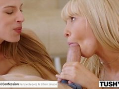 TUSHY Incredible Anal Threesome Compilation