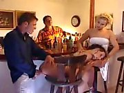 Orgy in a bar DP in the bathroom & hot brunette fucked in the ass