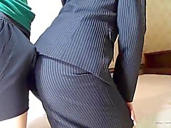 nonnude softcore asian office woman assjob clip