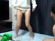 Große Brüste Kyra Queen spielt mit Titten Spielzeug