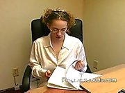 Busty Lactating Mom at Work