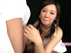 Прелестный возбуждённый японцы девушкой Banging
