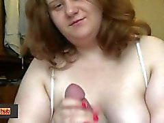 BBW Тани Mellow Мастурбация