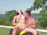 Extrem Hot Teen Get Hard Fucked at Beach on Holiday