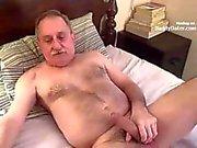 Hairy Silverdaddy Sucking my Uncut Cock