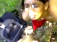 Pretty Indian Gets A Facial Outdoors POV
