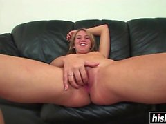 Shaved pussy fucking with Kaycee Dean