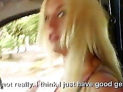 Busty amateur blonde Euro teen Blondie Feser public sex