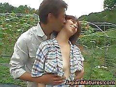 Chisato Shouda Aziatische volwassen chick krijgt