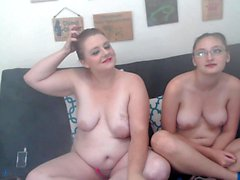 Posing nude on webcam with my amateur lesbian friend