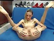 Skinny Blonde Babe Masturbating