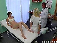 Doctor fucks his wild patient on the bed