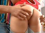 Horny hunk gives beauty a lusty fur pie plowing