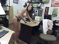Rus brunette anna İlk defa Müşteri'nin Karısı D istiyor