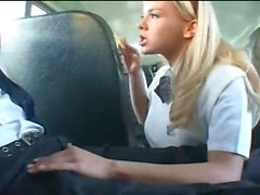 Bree Olsen sucking dick in a crowded bus
