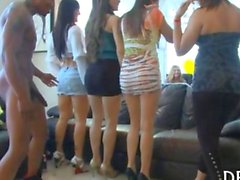 Girls hire strippers