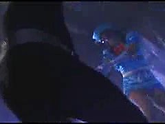 Super heroine is caught by a mad doctor and strung up for t