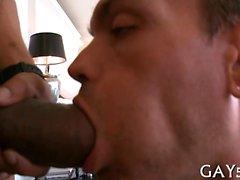 Monster Schwanz schlug in dieses Homosexuell hole