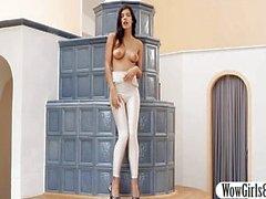 Altezza e scarno latina adolescente masturba
