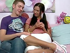 Russian Teen Couple Enjoys Each Other