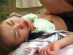 JPN Small Tits Innocent Schoolgirl Cumshot UNCENSORED