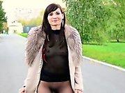Jeny Smith Public pantyhose flashing.