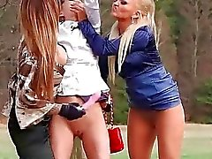 Wilde Lesbian Outdoor Trio