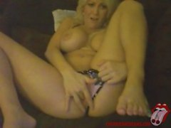 big tit blonde fucks her tight pussy live on webcam - cherrieswebcams