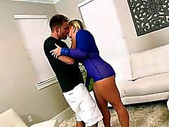 Blonde Cougar Angel Allwood Gets Fingered And Licked